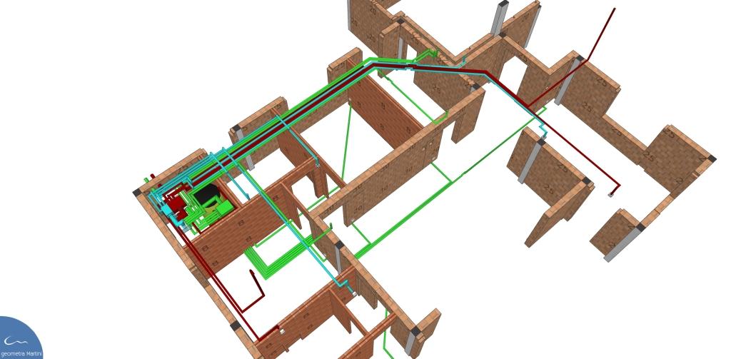 Progetto villetta VMC studio Tecnico Geometra Martini